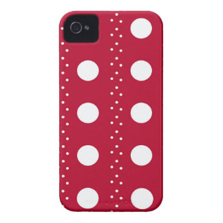 Rayures rouges de Polkadot Coque iPhone 4