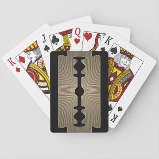 Razor blade sharp gold cover playing cards