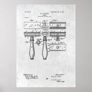 Razor Patent Print 1904 Poster