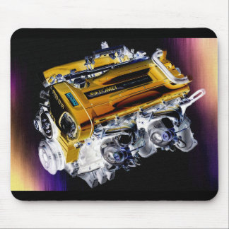 RB26 Twin Turbo Engine Mousepad