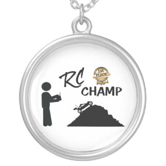 RC First Place Champ Silver Plated Necklace
