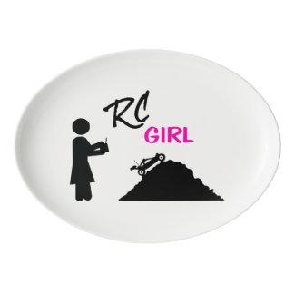 RC Girl Porcelain Serving Platter