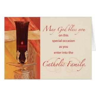 RCIA Congratulations, Catholic, Red Candle Card