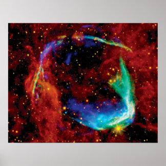 RCW 86 Supernova Remnant - NASA Hubble Space Photo Poster