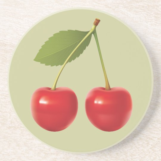 Re Cherries Coaster