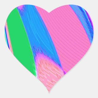 Re-Created Archangel Wing by Robert S. Lee Heart Sticker
