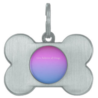 Re-Created Color Field with LOVE by Robert S. Lee Pet Tag