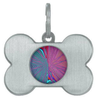 Re-Created Flower by Robert S. Lee Pet ID Tag
