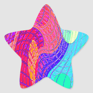 Re-Created Function f(x) Star Sticker