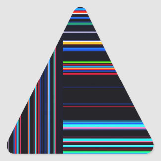 Re-Created Lines & Stripes by Robert S. Lee Triangle Sticker
