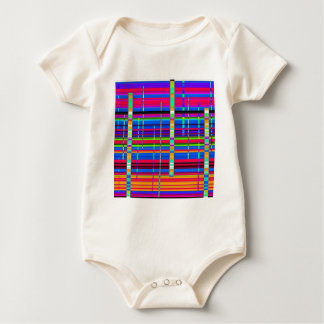 Re-Created Urban Landscape Baby Bodysuit