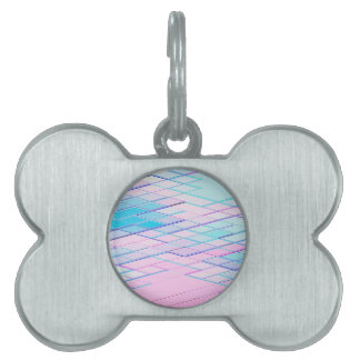 Re-Created Vertices No. 00 by Robert S. Lee Pet ID Tags
