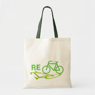 Re-Cycle Bike design Budget Tote Bag