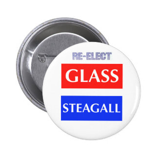 RE-ELECT Glass Steagall 2 Inch Round Button