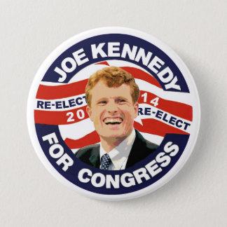Re-Elect Joe Kennedy 2014 3 Inch Round Button
