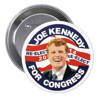 Re-Elect Joe Kennedy 2014 3 Inch Round Button