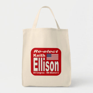 Re-elect Keith Ellison Congress 2012 Minnesota Tote Bags