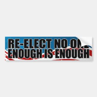Re-elect No One 2012 Bumper Sticker