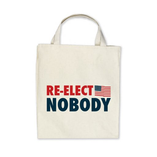 Re-Elect Nobody Canvas Bag