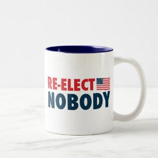 Re-Elect Nobody Two-Tone Coffee Mug