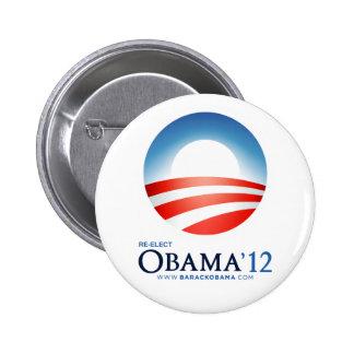 Re-Elect Obama 2012 2 Inch Round Button