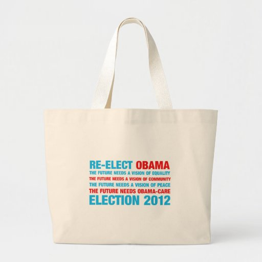 Re-Elect Obama 2012 Tote Bags