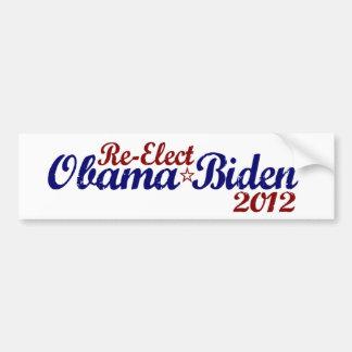 Re-Elect Obama Biden 2012 Bumper Stickers