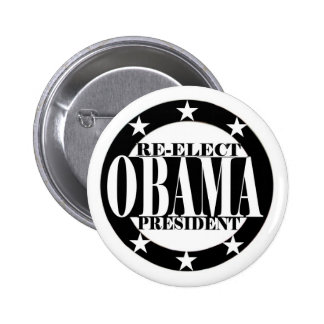 Re-Elect Obama President 2 Inch Round Button