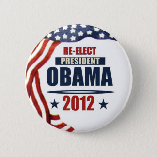 Re-Elect President Obama 2012 2 Inch Round Button