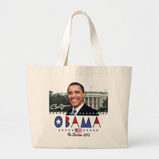 Re-Elect President Obama Election 2012 Gear Jumbo Tote Bag