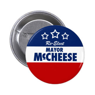 Re-Elect the Mayor cheesy campaign button