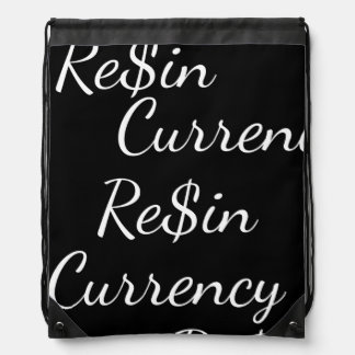 Re$in x Currency Drawstring backpack