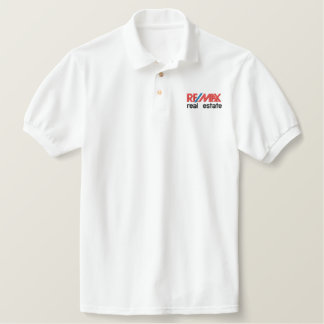 RE/MAX real estate - White Staff Shirt Embroidered Shirt