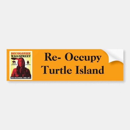 Re-Occupy Turtle Island Bumper Sticker