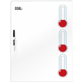 Re-useable 3-Thermometers Dry-Erase Whiteboard