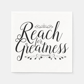 Reach for Greatness Calligraphy Disposable Napkin