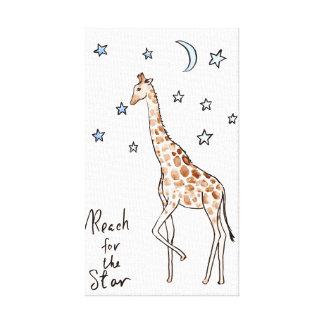 """reach for the star"" giraffe comic Print"