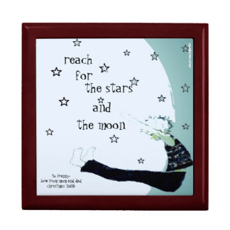 Reach for the Stars and the Moon Custom Gift Box