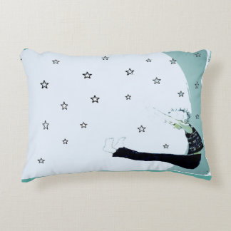 Reach for the Stars and the Moon Inspirational Decorative Pillow