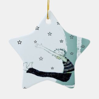 Reach for the Stars and the Moon Star Ceramic Ornament