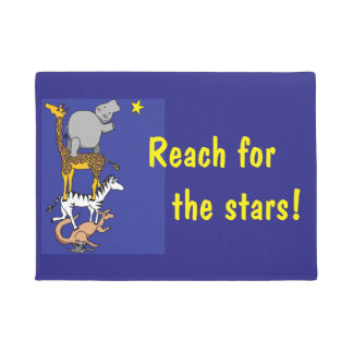 reach for the stars animal friends doormat