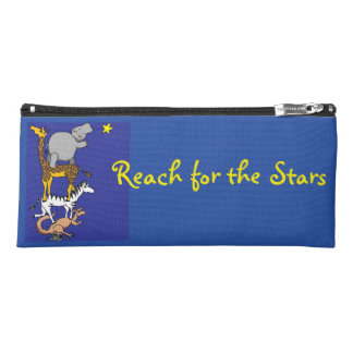 Reach for the stars animal friends pencil case
