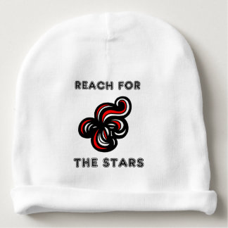 """Reach for the Stars"" Baby Cotton Beanie Baby Beanie"