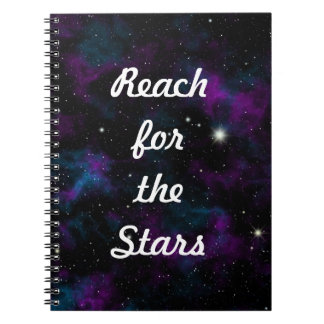 Reach for the Stars Galaxy Notebook
