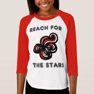 """Reach for the Stars"" Girls' 3/4 Raglan T-Shirt"