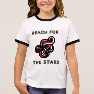 """""""Reach for the Stars"""" Girl's Ringer T-Shirt"""