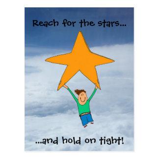 Reach for the stars... postcard