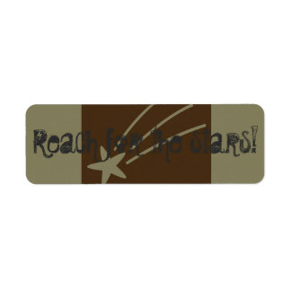 Reach for the stars return address label