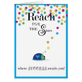 Reach for the Stars Success Card