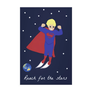 Reach for the Stars Superhero Canvas Print